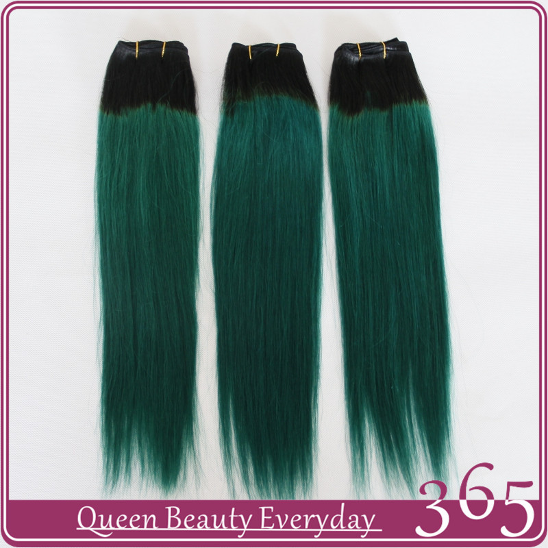 Ombre hair extensions 1b green straight brazilian virgin human ombre hair extensions 1b green straight brazilian virgin human hair weave 7a grade 365 queen hair products free shipping in hair weaves from hair extensions pmusecretfo Gallery