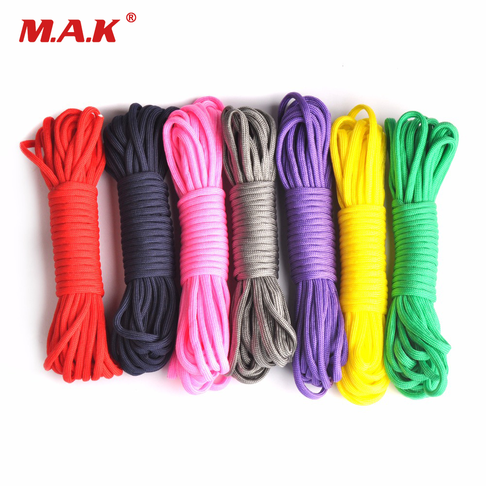 Paracord 550 100ft Rope Paracord Lanyard Accessories Parachute Deg For Outdoor Camping Equipment & Survival