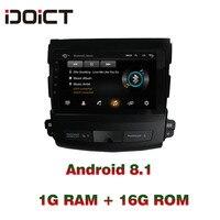 IDOICT Android 8,1 dvd плеер автомобиля gps навигации мультимедиа для Mitsubishi Outlander peugeot 4007 радио 2006 2012
