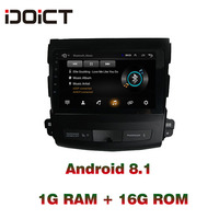 IDOICT Android 8.1 Car DVD Player GPS Navigation Multimedia For Mitsubishi Outlander peugeot 4007 Radio 2006 2012