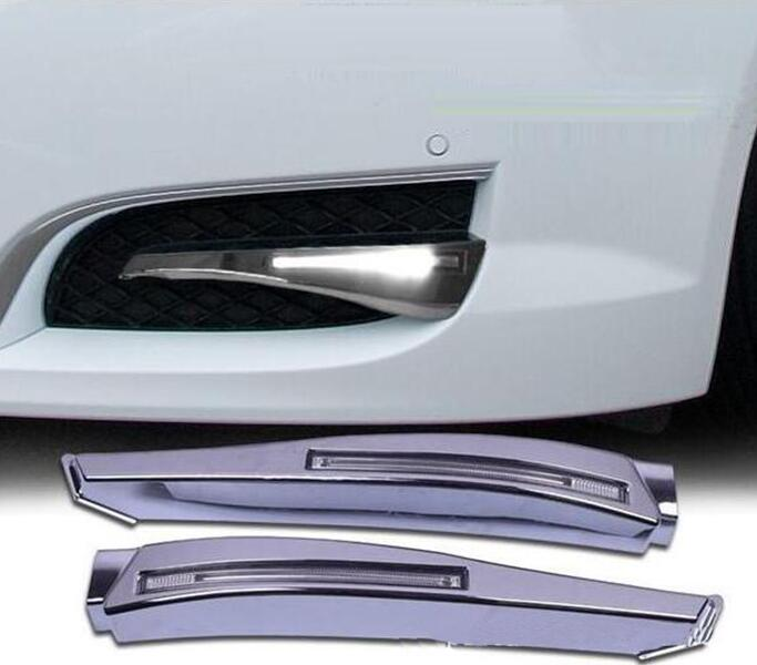 Car Stlying 12V LED Daytime Running Light DRL Fog Lamp Decoration For Toyota Prado 2010 2011 2012 2013 2PCS car styling led drl daytime running light fog lamp for toyota prius 2010 2011 2012 led fog light day light drl auto accessories