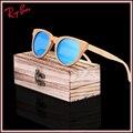 2017new moda gafas de sol de madera de bambú caja de madera de la vendimia de la playa de la marca de gafas de sol polaroid gafas de sol de conducción gafas de sol