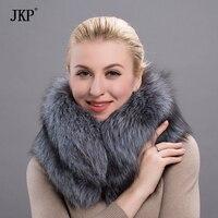Real fox fur scarf shawl women soft silver Fox Fur Collar men and women scarves