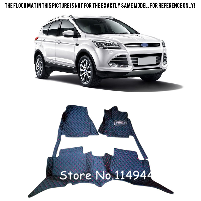 For Ford Escape Kuga 2013 2014 2015 Durable Waterproof Auto Custom Car Floor Mats Full Set silver color roof rails rack luggage carrier bars for ford escape kuga 2013 2014 2015 2016 2017