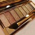 2016 2015 Moda 9 Cores Shimmer Paleta de Sombra Eye Shadow & Maquiagem Jogo de Escova Cosmético 7H48