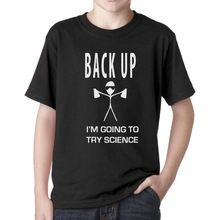 2017 Newest Fashion Design Back Up Funny T-Shirt  I'm Going To Try Science Geeky T-Shirt Novelty Tee