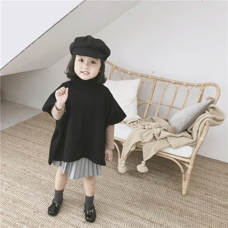 купить Girls sweater 100% merino wool knitted Cloak по цене 2952.08 рублей