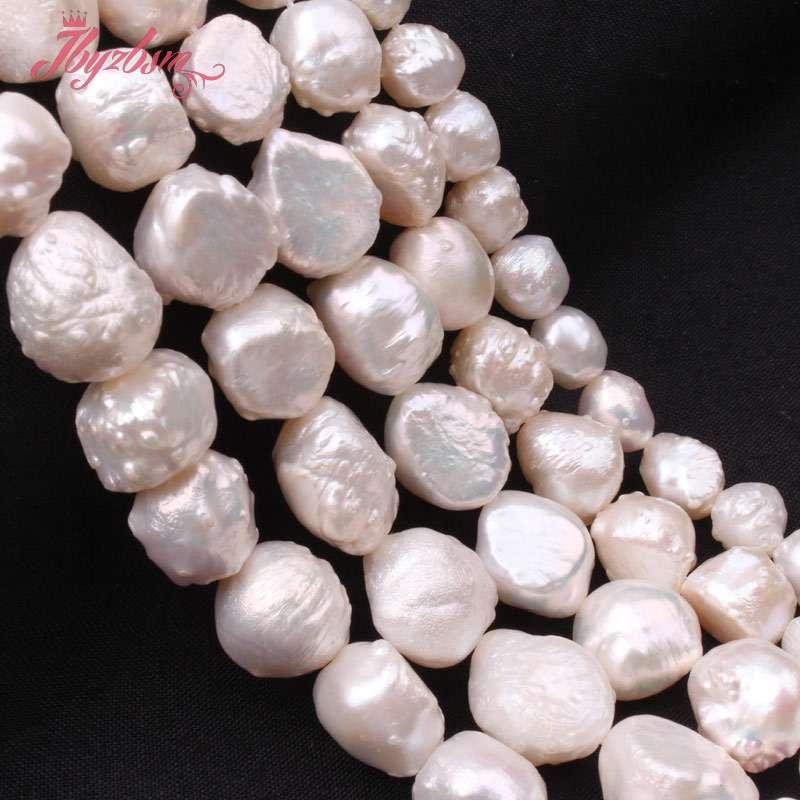 fc46cc8416e0 Piedra Natural Irregular blanco perla Keshi Edison para la joyería de las  pulseras del collar de DIY que hace 14
