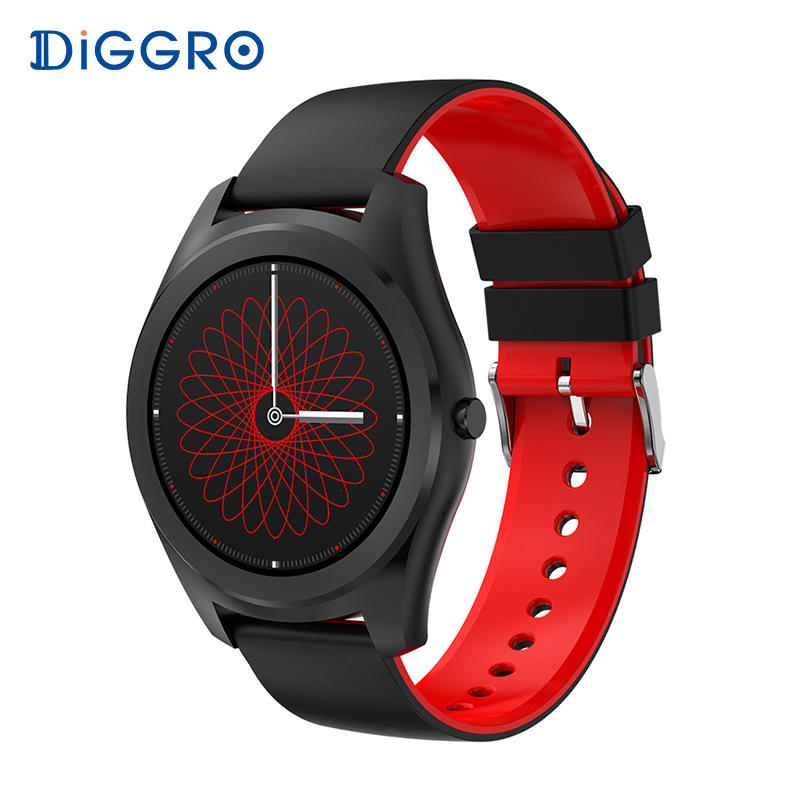 DIGGRO DI03 SmartWatch Bluetooth IP67 Heart Rate Fitness tracker Message Reminder Sport smartwatch for Android IOS on wristwatch diggro di03 smart watch ip67 heart rate monitor pedometer fitness tracker bluetooth smartwatch sleep monitor for ios