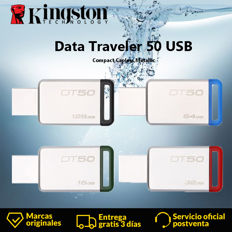 <font><b>Kingston</b></font> DT50 <font><b>USB</b></font>-Stick 8GB 16GB <font><b>32GB</b></font> 64GB 128GB Daten Reisenden <font><b>USB</b></font> 3.1 3,0 Pendrive stick Geistige Stick Memory U Stick image