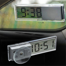 Best Promotion Suction Cup Sticker Auto Car Dashboard Windscreen Digital LCD Display Mini Clock