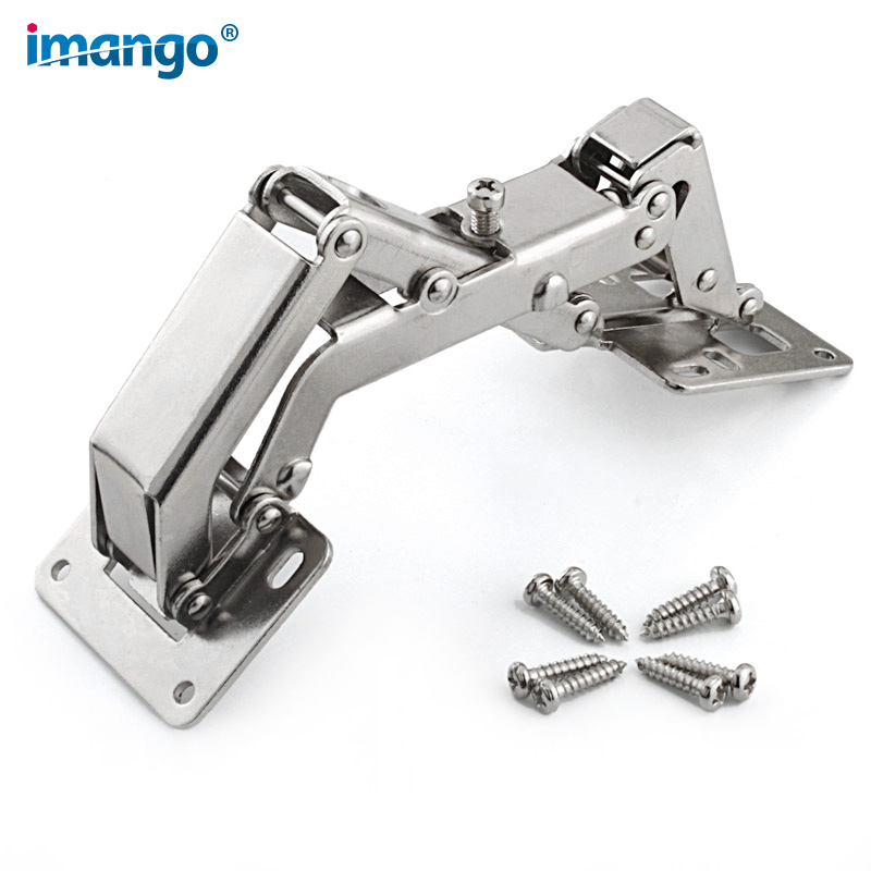 160 165 170 Degree Hinge for Corner Cabinet Door,Kitchen Thick Door Hinges Angle Can Adjusted 130-170 Degrees No Need Hole Hinge probrico 1 pcs soft close kitchen cabinet corner folded hinge 165 degree chwh04ha concealed combination cupboard door hinge