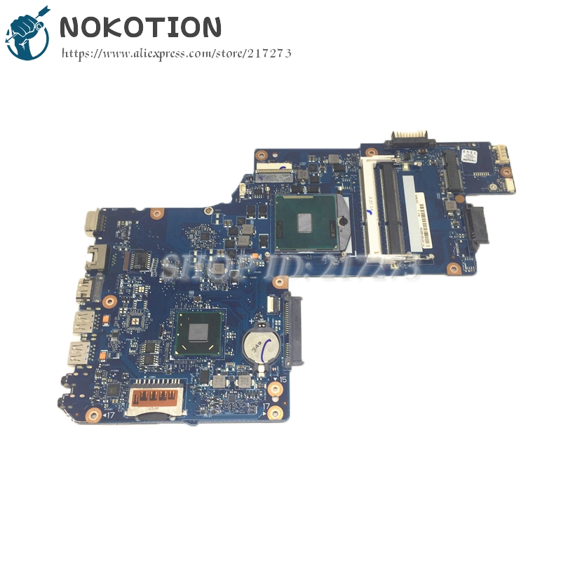 все цены на NOKOTION H000052740 PC Motherboard For Toshiba Satellite L850 C850 System Board 15.6 inch HM70 GMA HD DDR3 Free cpu