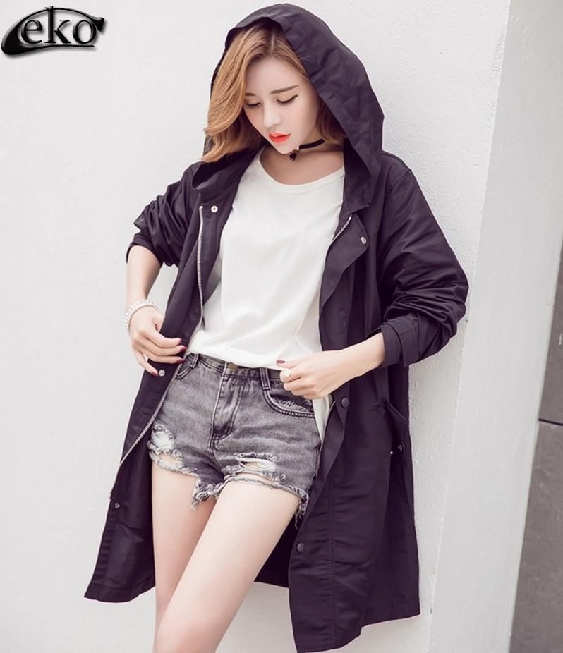 Fashion Long Trench Coat for Women Windbreaker Autumn Spring Letters Printed Trench Coats Outerwear Loose Female