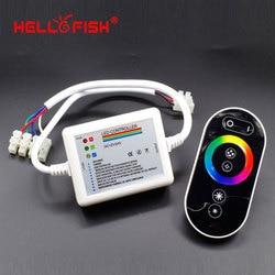 Infierno de pescado RGB Panel táctil controlador DC 12-24V mando inalámbrico de radiofrecuencia para tira led RGB