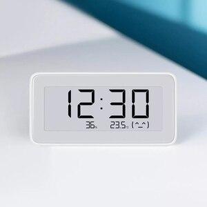 Image 2 - HOT Auf Lager Original Xiaomi Mijia MiaoMiaoCe BT 4,0 Wireless Smart Elektrische Digitale Indoor & Outdoor Hygrometer Therometer Uhr
