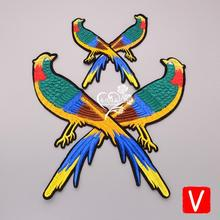embroidery birds patches for jackets,birds badges for jeans,cartoon appliques for clothing A574 embroidery round birds patches for jackets fish badges for jeans appliques a133