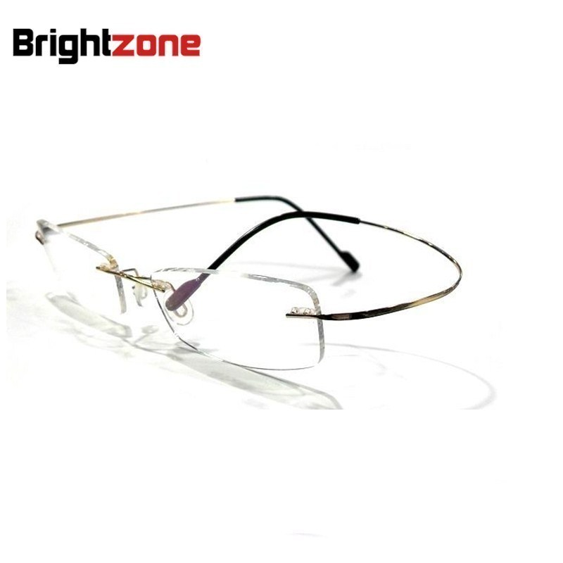 0c58b788db8 8 colors rimless non screw memory titanium hingeless flexible eyeglasses  glasses prescription rx spectacle optical frame oculos-in Eyewear Frames  from ...