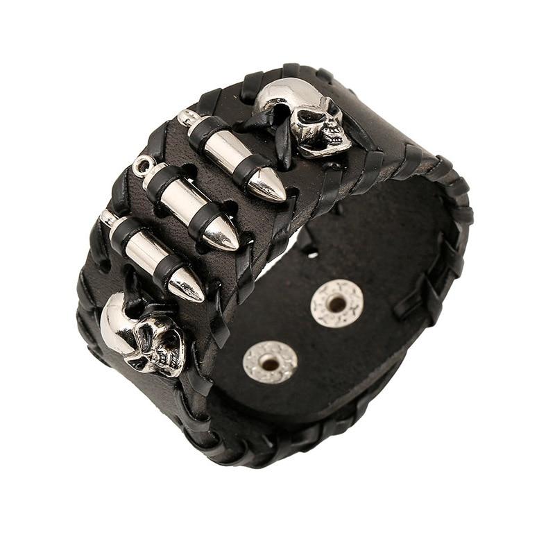 Bracelet squelette tête de mort et balles 1