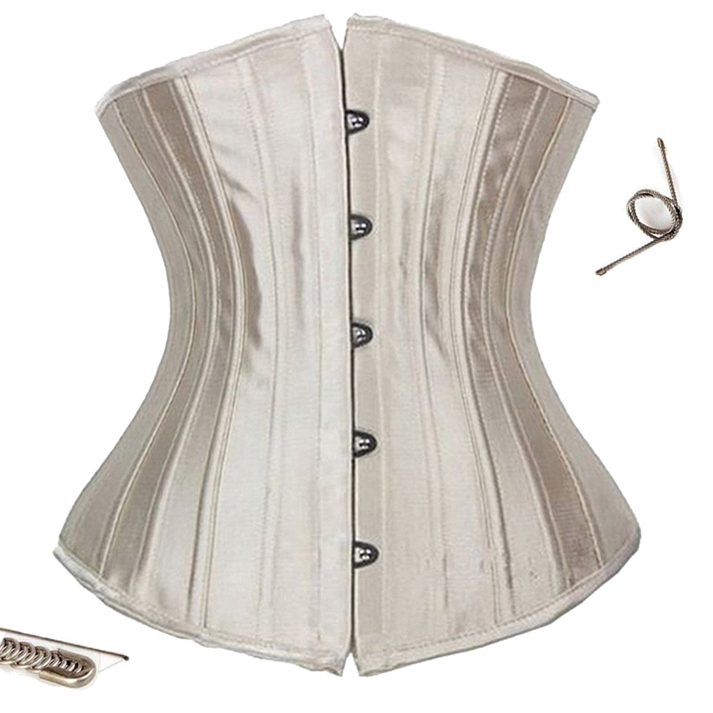 Women Sexy Black Steampunk Gothic   Corset   Fajas Steel Boned   Bustiers   and   Corset   Underbust Satin Shapewear