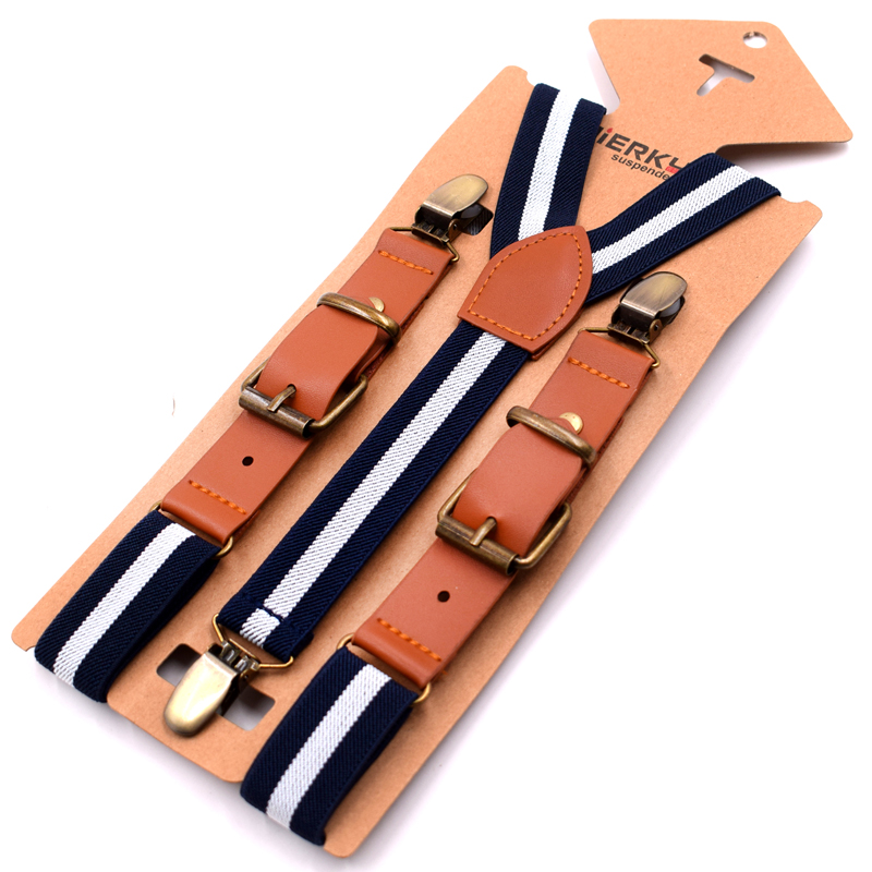 1 Width Kinder Hosentrager Elastisch Kids Suspenders 4 Strong Clips Straps Y-form Slinger Length Adjustable Giarrettiere Belt Men's Accessories Apparel Accessories