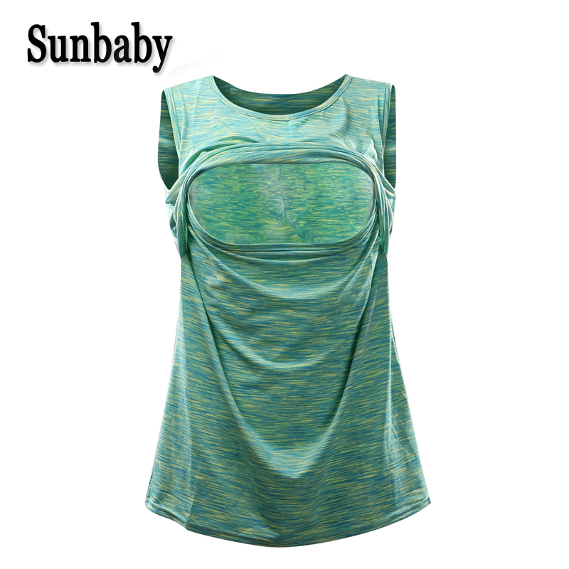 Sunbaby Snow Candy Color Big Size Fashion Singlet Shirt Breastfeeding Nursing Top Breastfeeding Clothing For Pregnant Women