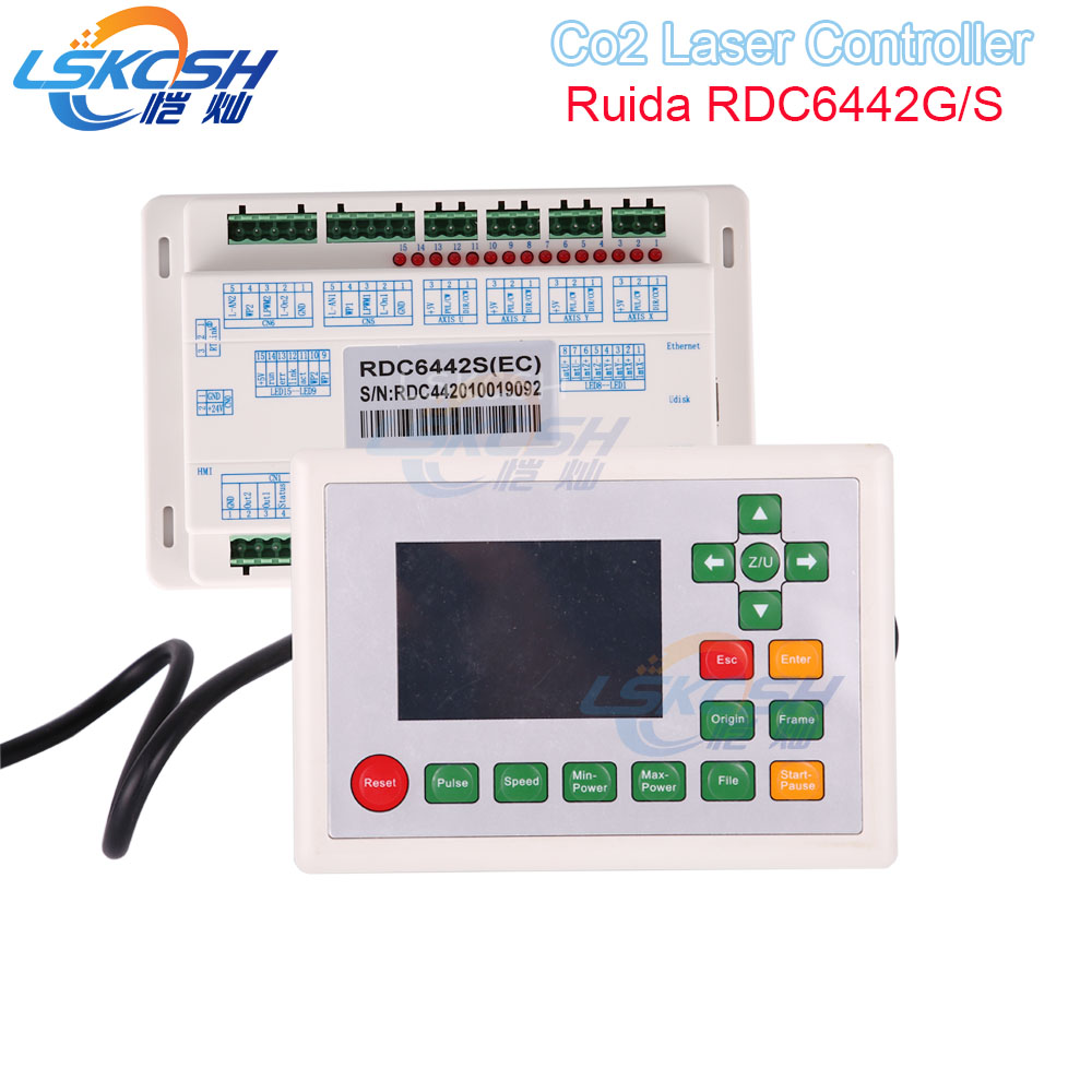 все цены на LSKCSH Ruida RD6442S RDC6442G Co2 Laser DSP Controller for Co2 Laser Engraving Cutting Machine Professional laser parts supplier онлайн
