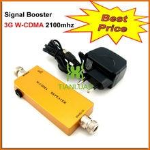 Мини 3 Г W-CDMA Репитер Мобильного Телефона UMTS 3 Г Усилитель Сигнала WCDMA 2100 МГц Сотовый Телефон Сигнал Повторителя Усилитель с Блоком Питания