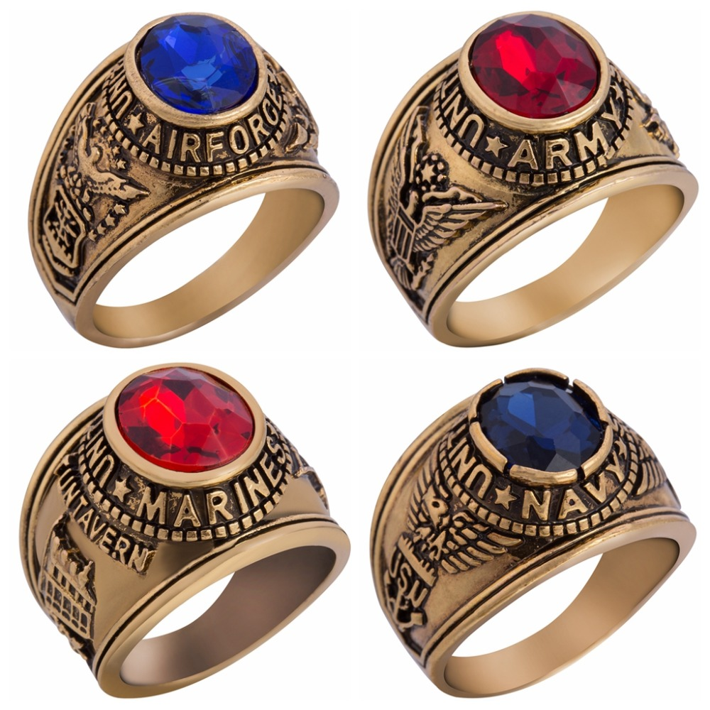 air military navy us stainless veteran ring rings army marines gold jewelry plated steel com dp officers force war for amazon