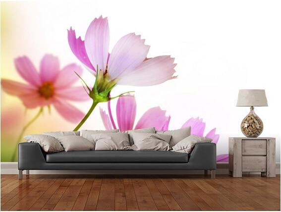 Kundenspezifische blumen tapete, Schönes Blumenmuster, 3D fototapete ...