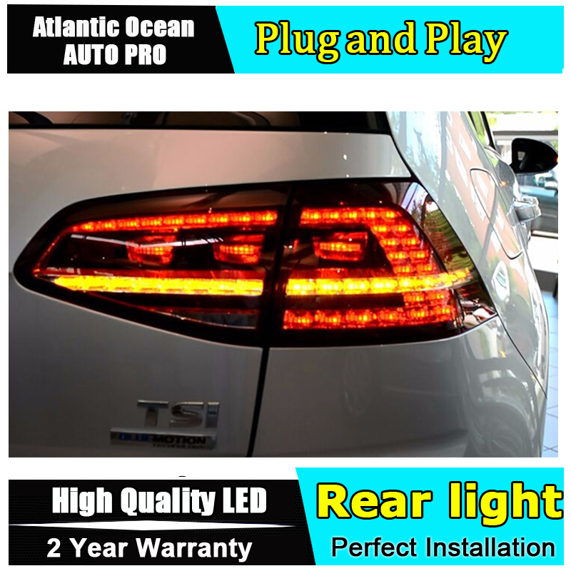 AUTO.PRO For vw golf 7 led rear lights car styling R20 For golf 7 taillights golf mk7 trunk lamp cover drl+signal+brake+reverse