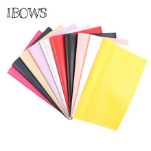 IBOWS 22*30cm Litchi Pattern Faux Leather Fabric For Sewing Artificial Synthetic Pu for DIY Bag Shoes Material Hademade