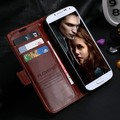 Moda retro do caso da aleta para galaxy s4 siv i9500 luxo acessórios do telefone estande carteira de couro crazy horse capa para samsung S4