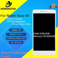FOR Xiaomi Redmi Note 4X Black ASSEMBLY FREE TOOLS FREE SHIPPING SCREEN STICKER FREE