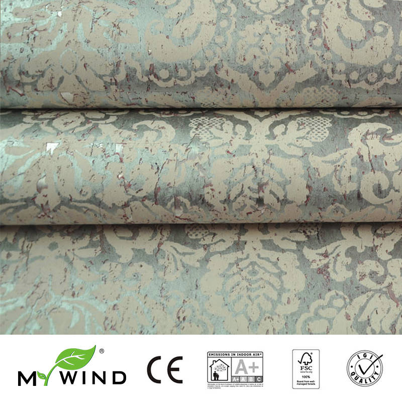 2019 MY WIND Court Style Bohemian Wallpapers Luxury 100% Natural Material Safety Innocuity 3D Wallpaper In Roll Home Decor