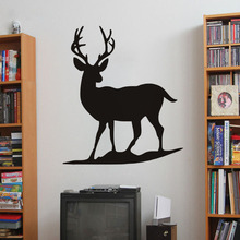 Free shipping diy wallpaper deer wall sticker The living room decoration Home Furnishing PVC home decor mural