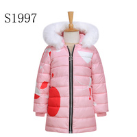Printing Thickening Girl Winter Coat White Duck Down 5 14T Boys Winter CoatWarm Down Parkas Hooded