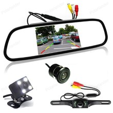 5 inch Digital Color TFT 800*480 Car Mirror Monitor with CCD night vision Car Rear View parking Camera