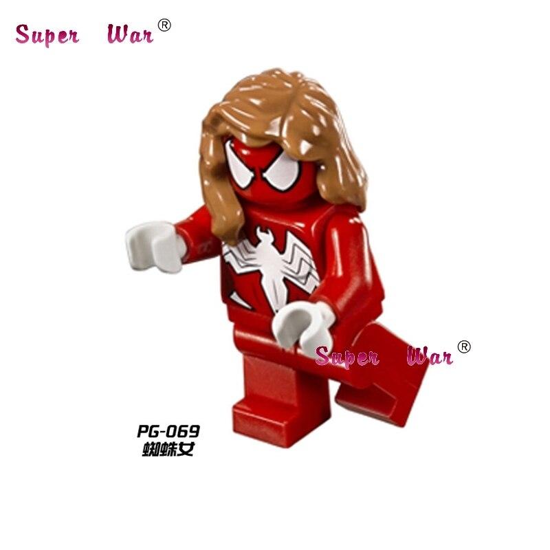 1pcs Sale star wars superhero marvel Spider-Girl Series building blocks action model bricks toys for children brinquedos menina