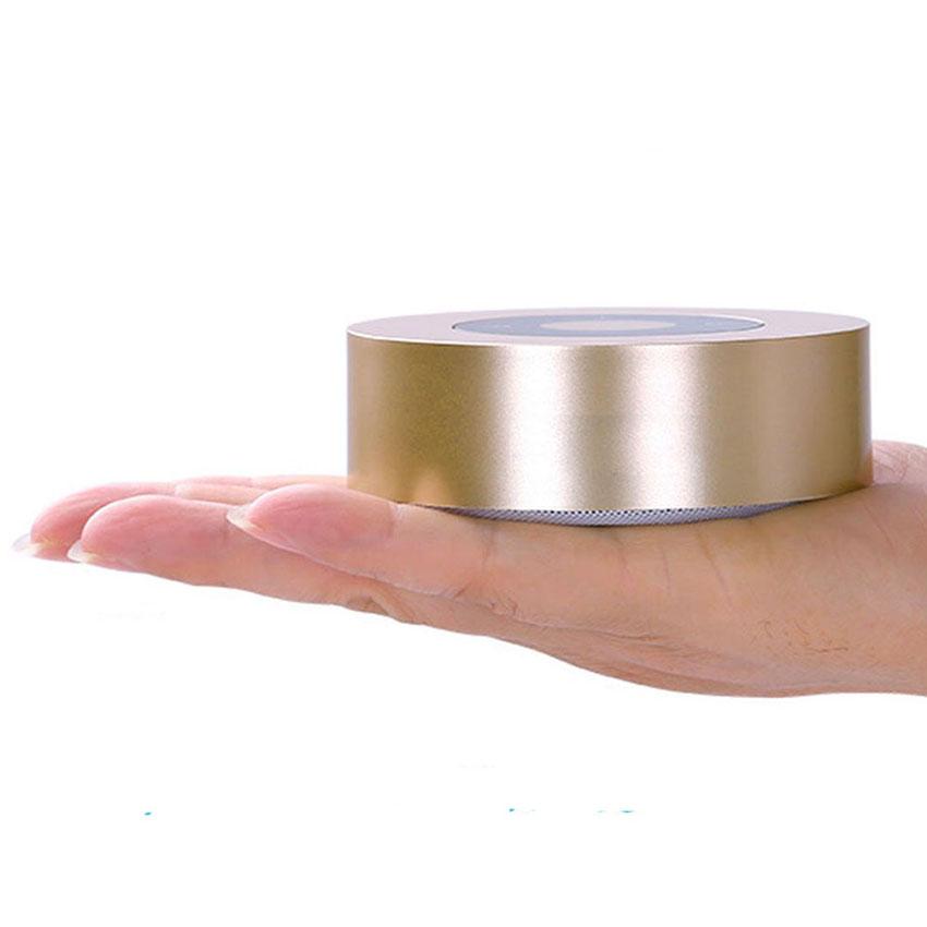 Aimitek Portable Bluetooth Speaker Touch Screen Mini Wireless Stereo Speaker Champagne-3