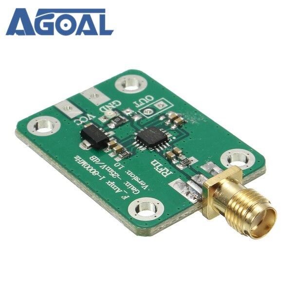 1 8000MHz AD8318 RF Logarithmic Detector 70dB RSSI Measurement Power Meter
