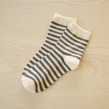 Striped Breathable Women's Cotton Socks