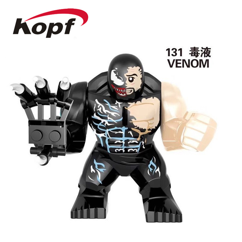 Single Sale Building Blocks Super Heroes Venom Avengers Riot Thanos Carnage Hulk Action Figures Learning Toys For Children EG131 image