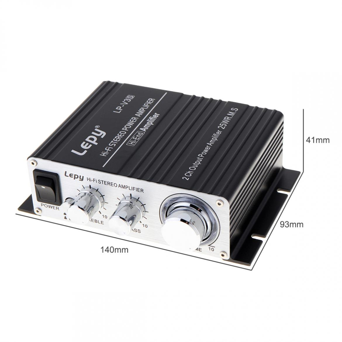 LP V3S 50W 12V Mini Hi Fi Stereo Digital Power Amplifier MP3 Car Audio Speaker with 3 5mm Audio Input 3 5mm MP3 socket in Stereo Amplifiers from Automobiles Motorcycles