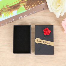 20 Pcs/Lot Wholesale Black Box Flower Kraft Paper Favour Gift Jewelry Box/Bag Vintage Design Bulk Rings/Earrings