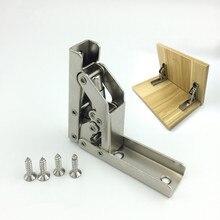 2pcs stainless steel 90 degree folding shelf hinge bracket hidden table holder furniture accessories shelves