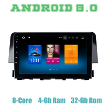 Octa core px5 Android 8,0 автомобиля gps радио для Honda Civic 2015 2016 2017 2018 с 4 Гб + 32 ГБ, Wi-Fi, 4 usb авто мультимедиа