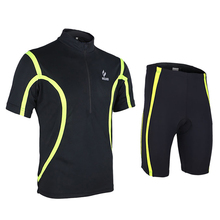 Breathable Bike Bicycle Cycling Sets Anti-sweat Shirts Gel Pad Cycling Suit Men Cycling Jersey MTB Short Sleeves Jersey