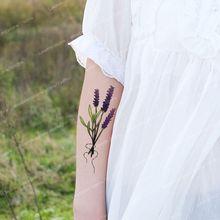 Lavender Temporary Tattoo, Waterproof Tattoo Sticker