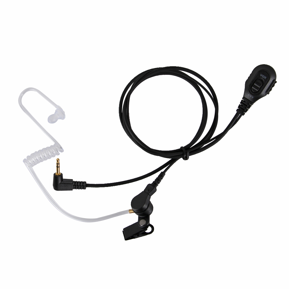 Black Silicone Earbud Size L For Radio Earpiece Covert Acoustic Tube Air Tube